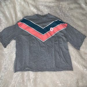 converse cropped mock neck t-shirt